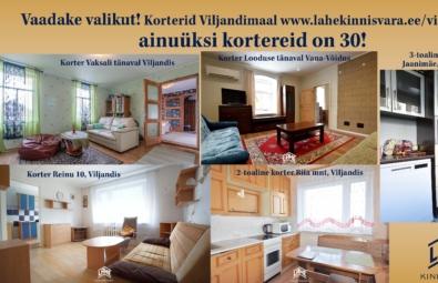 Korterid-Viljandis-Lahe-Kinnisvara