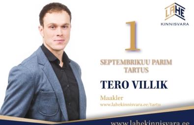 Parimad maaklerid SEPTEMBER-Tero-Tartu-kuu-parim-2020