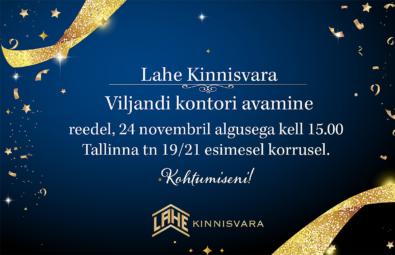 Lahe Kinnisvara Viljandi büroo